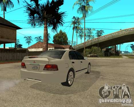 Mitsubishi Galant VR6 для GTA San Andreas вид сзади слева