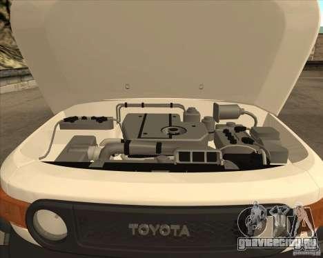 Toyota FJ Cruiser для GTA San Andreas вид сверху