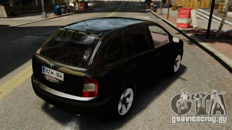 Skoda Fabia Combi Unmarked ELS для GTA 4 вид сзади
