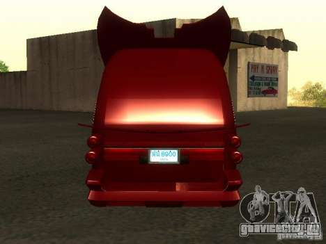 Toyota Hiace Vanning для GTA San Andreas вид справа