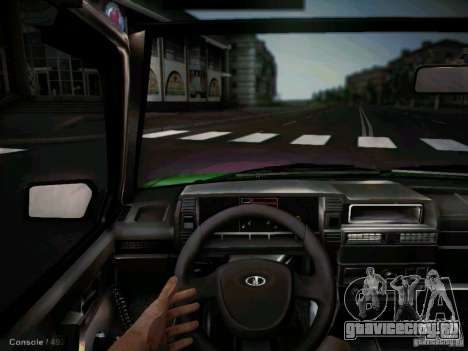 Ваз 2109 Коротко-крылое Такси для GTA San Andreas вид изнутри