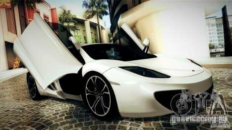McLaren MP4-12C 2012 для GTA San Andreas вид изнутри