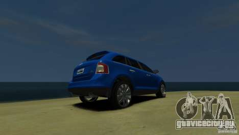 Ford Edge 2007 для GTA 4 вид сзади слева