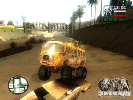 Bullet Storm Bus для GTA San Andreas вид сзади слева