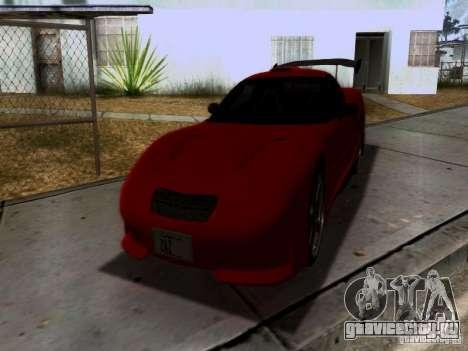 Chevrolet Corvette C5 для GTA San Andreas салон