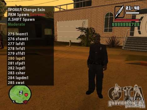 GTA IV peds to SA pack 100 peds для GTA San Andreas третий скриншот