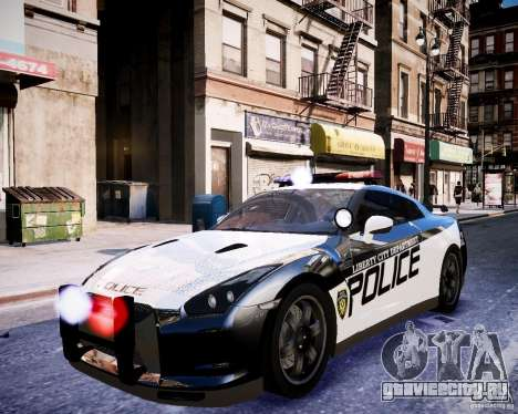 Nissan Spec GT-R Enforcer для GTA 4 вид изнутри