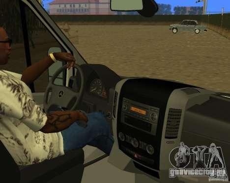 Mercedes-Benz Sprinter Baku Ambulans для GTA San Andreas вид сзади
