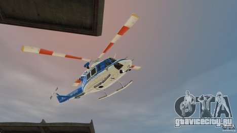 Bell412/NYPD Air Sea Rescue Helicopter для GTA 4 вид слева