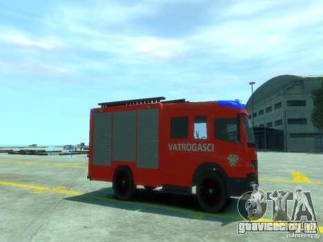 Mercedes-Benz Atego Fire Departament для GTA 4 вид справа