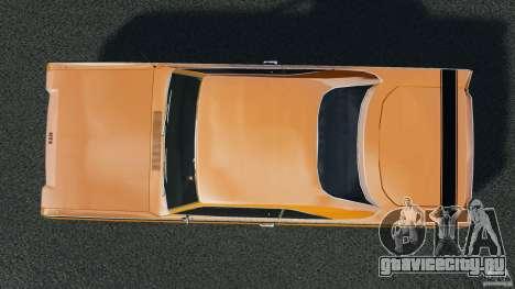 Dodge Dart GTS 1969 для GTA 4 вид справа