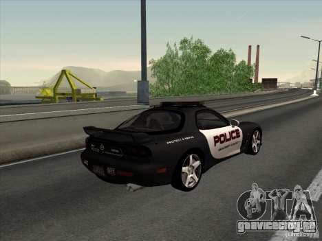 Mazda RX-7 FD3S Police для GTA San Andreas вид слева