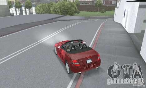 Mercedes-Benz SLK 350 для GTA San Andreas вид сбоку