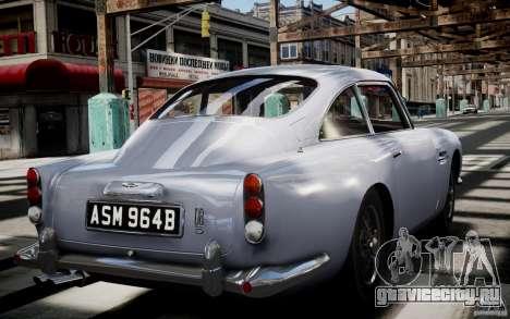 Aston Martin DB5 1964 для GTA 4 вид сбоку