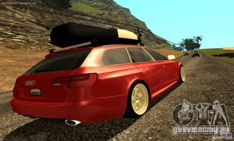 Audi A6 Avant Stanced для GTA San Andreas вид снизу