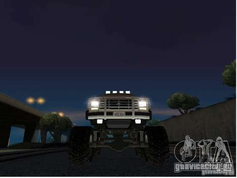 Ford Bronco IV Monster для GTA San Andreas вид изнутри