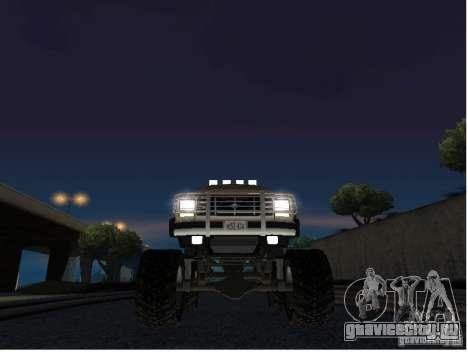 Ford Bronco IV Monster для GTA San Andreas вид изнутри