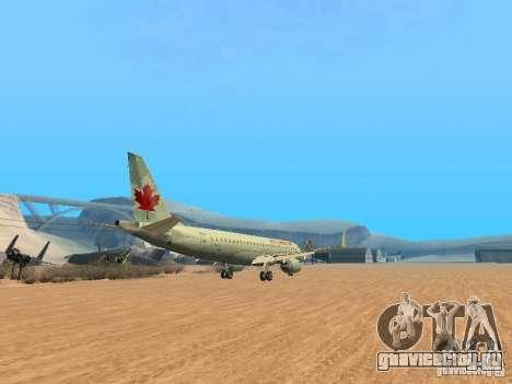 Embraer ERJ 190 Air Canada для GTA San Andreas вид сзади