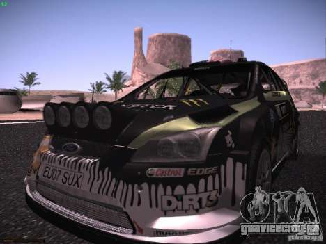 Ford Focus RS Monster Energy для GTA San Andreas вид сзади