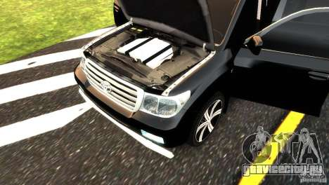Toyota Land Cruiser 200 RESTALE для GTA 4 вид сверху
