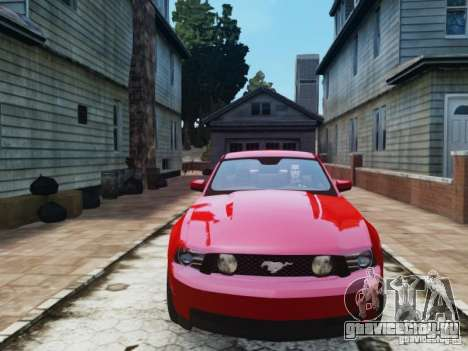 Ford Mustang GT 2011 для GTA 4 вид сзади