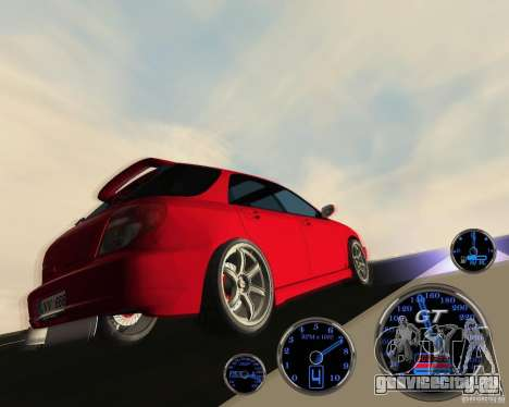 Subaru Impreza Universal для GTA San Andreas вид сзади
