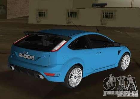 Ford Focus RS 2009 для GTA Vice City вид слева