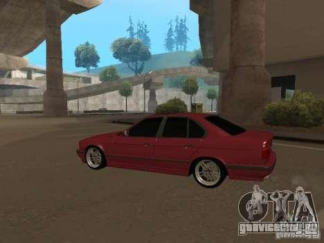 BMW E34 M5 для GTA San Andreas вид сзади слева