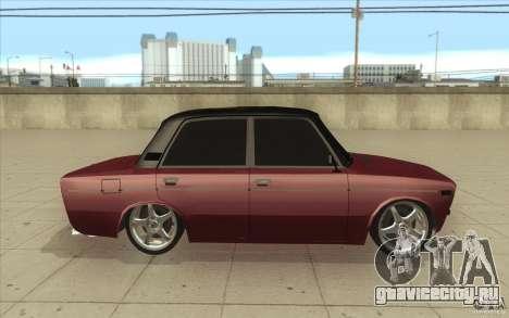 ВАЗ-2106 Lada для GTA San Andreas вид изнутри