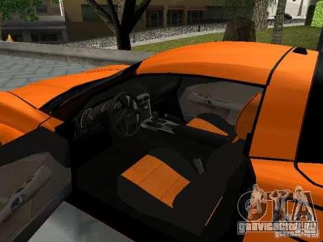 Chevrolet Corvette (C6) для GTA San Andreas вид сзади