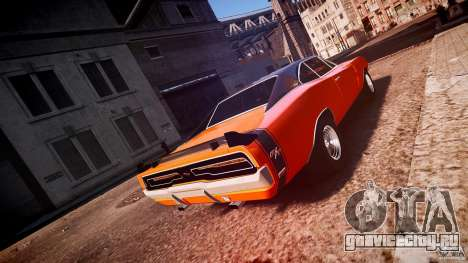 Dodge Charger RT 1969 tun v1.1 спортивный для GTA 4 вид сбоку