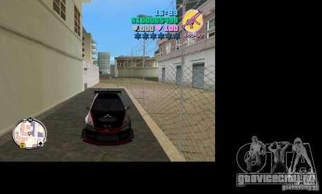 Mitsubishi Lancer Evo VIII для GTA Vice City вид сзади слева