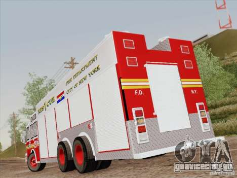 E-One F.D.N.Y Fire Rescue 1 для GTA San Andreas салон