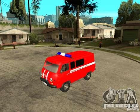 УАЗ Пожарка для GTA San Andreas вид слева