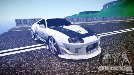 Toyota Supra ProStreet Style для GTA 4 вид сзади