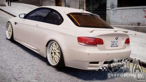 BMW M3 Hamann E92 для GTA 4 вид справа