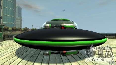 UFO neon ufo green для GTA 4 вид слева