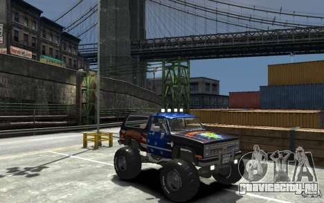 Chevrolet Blazer K5 1986 Monster Edition для GTA 4 вид сзади