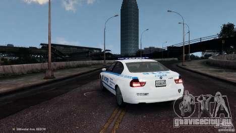 NYPD BMW 350i для GTA 4 вид сзади слева