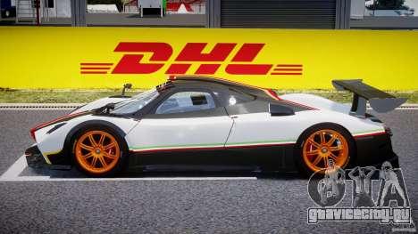 Pagani Zonda R 2009 Italian Stripes для GTA 4 вид слева