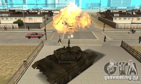 Танк Т-90 для GTA San Andreas вид справа