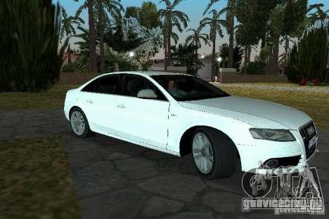 Audi S4 2010 для GTA Vice City вид сзади слева