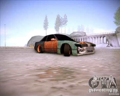 Nissan Silvia S13 Under Construction для GTA San Andreas вид сзади