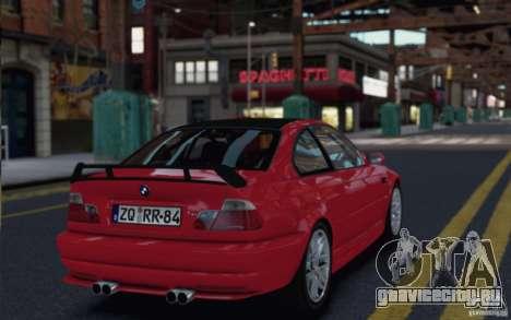 BMW M3 Street Version e46 для GTA 4 вид справа