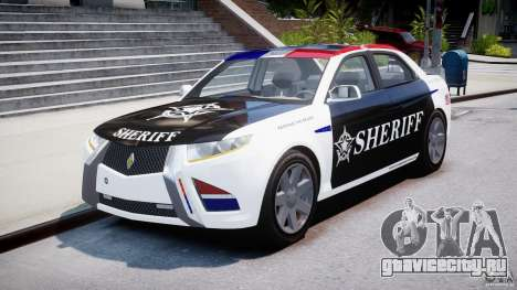 Carbon Motors E7 Concept Interceptor Sherif ELS для GTA 4 вид сзади