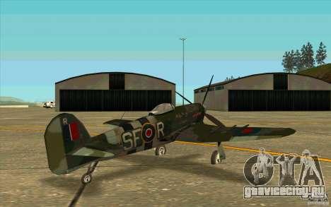 Hawker Typhoon для GTA San Andreas вид справа
