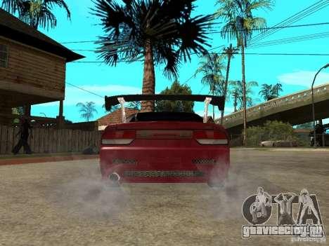 Nissan 240SX Tuned для GTA San Andreas вид сзади слева