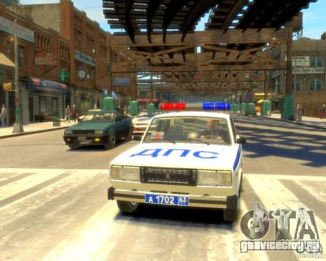 ВАЗ-2105 милиция для GTA 4 вид сзади