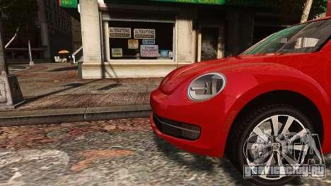 Volkswagen Beetle Turbo 2012 для GTA 4 вид слева