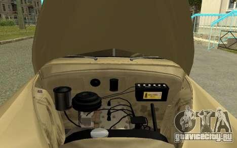 ГАЗ М20 Победа 1949 для GTA San Andreas вид сзади